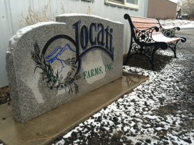 First snow of the year at the Locati farm.