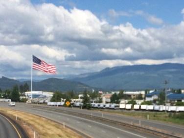 Mt Vernon American flag.