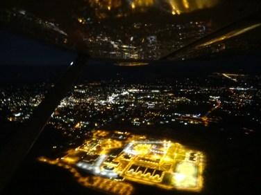 Looking south over prison toward Walla Walla at night.