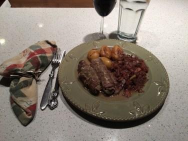 Rouladen dinner