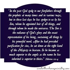 Hebrews 1-1-4