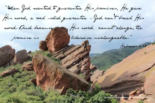 red rocks colorado Hebrews 6-18
