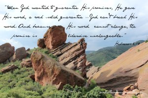 red rocks colorado Hebrews 6-18