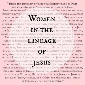 women in the lineage of Jesus button