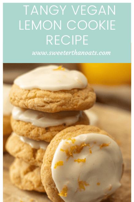 Vegan Iced Lemon Cookies