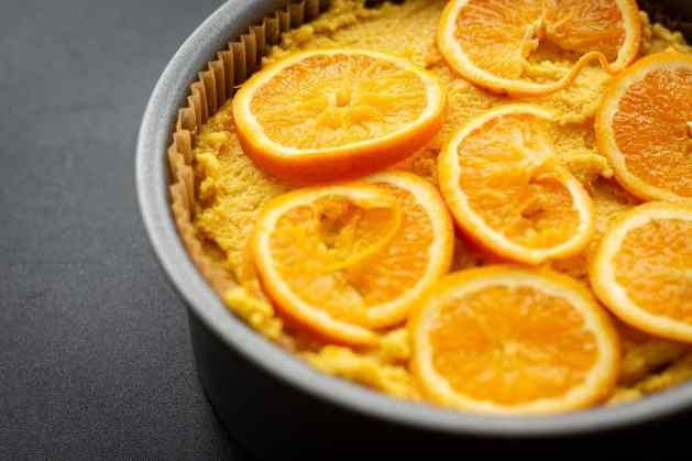 Easy Vegan Gluten Free Orange Polenta Cake