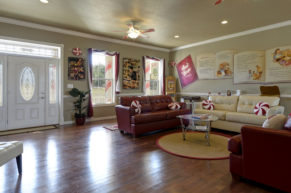 The Sweet Escape  Vintage Candy Shop Living Room