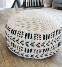 A Giant Crochet Pouf Pattern That Will Add A Cozy Feel To ...