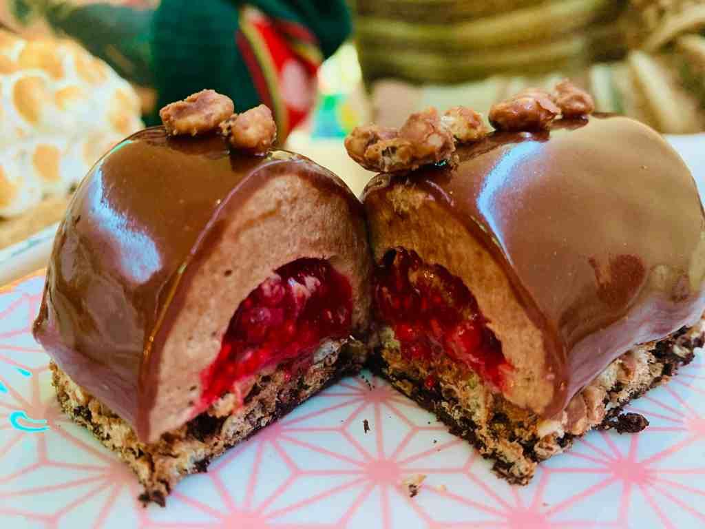 Bûche de Noël Chocolat et Framboise sans gluten