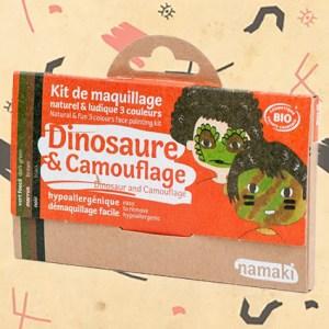 Kit de maquillage dinosaure et camouflage