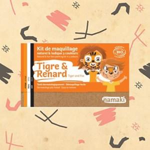 Kit de maquillage tigre et renard
