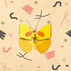 Papillon jaune 3D à construire par studio ROOF.