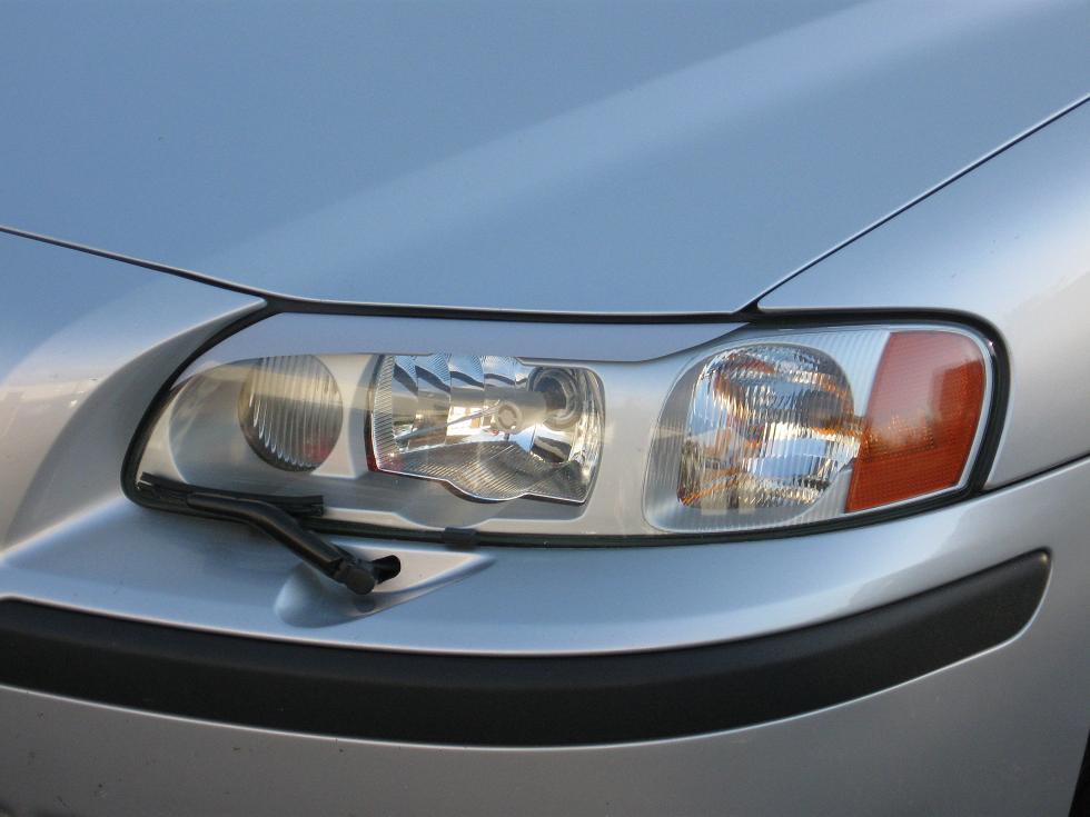 V70 Headlight Eyebrows ABS Plastic Fits Volvo S60 tuning