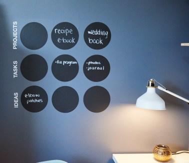 To do chalk vinyl wall