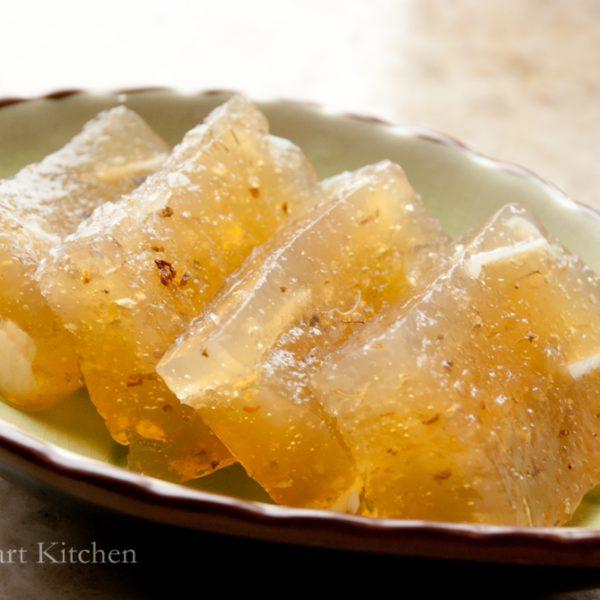 桂花馬蹄糕 Water Chestnut Cake with Osmanthus Flower食譜 : 甜琛廚房