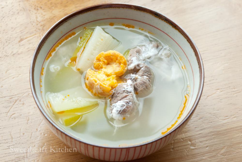 節瓜鹹蛋湯 Fuzzy Melon Soup With salted Eggs食譜 : 甜琛廚房