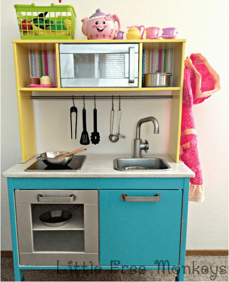 Play Kitchen Makeover - Katrin's Feature at Sweet Inspiration Link Party