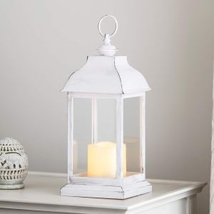 white farmhouse lantern