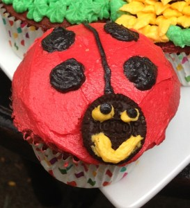 Ladybug Decorated Cupcake at Sweetie Pie and Cupcakes