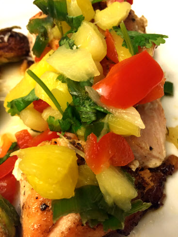 Pineapple Pepper Mango Salsa for Salmon