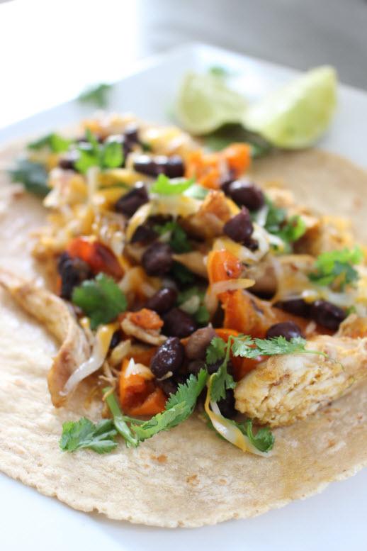 Southwestern Fajita Chicken Tacos