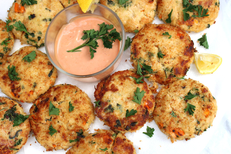 Crab cakes made from scratch
