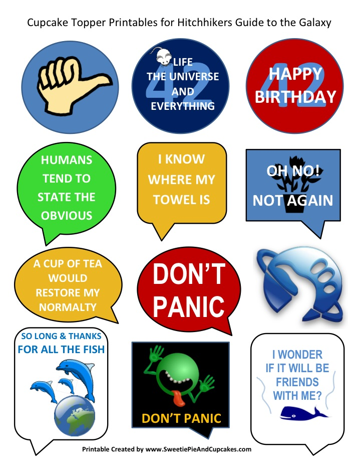 Hitchhikers Guide to the Galaxy Printable