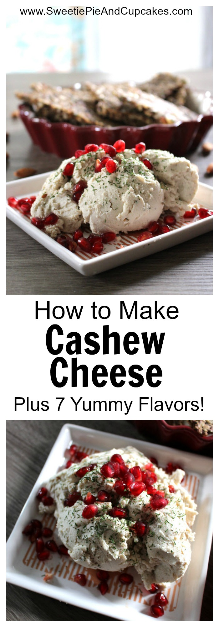 Learn to make yummy and healthy Cashew Cheese! Includes seven different flavors!