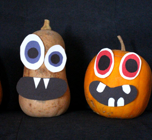 Ghouly Gourd Spooky Faces Halloween Craft