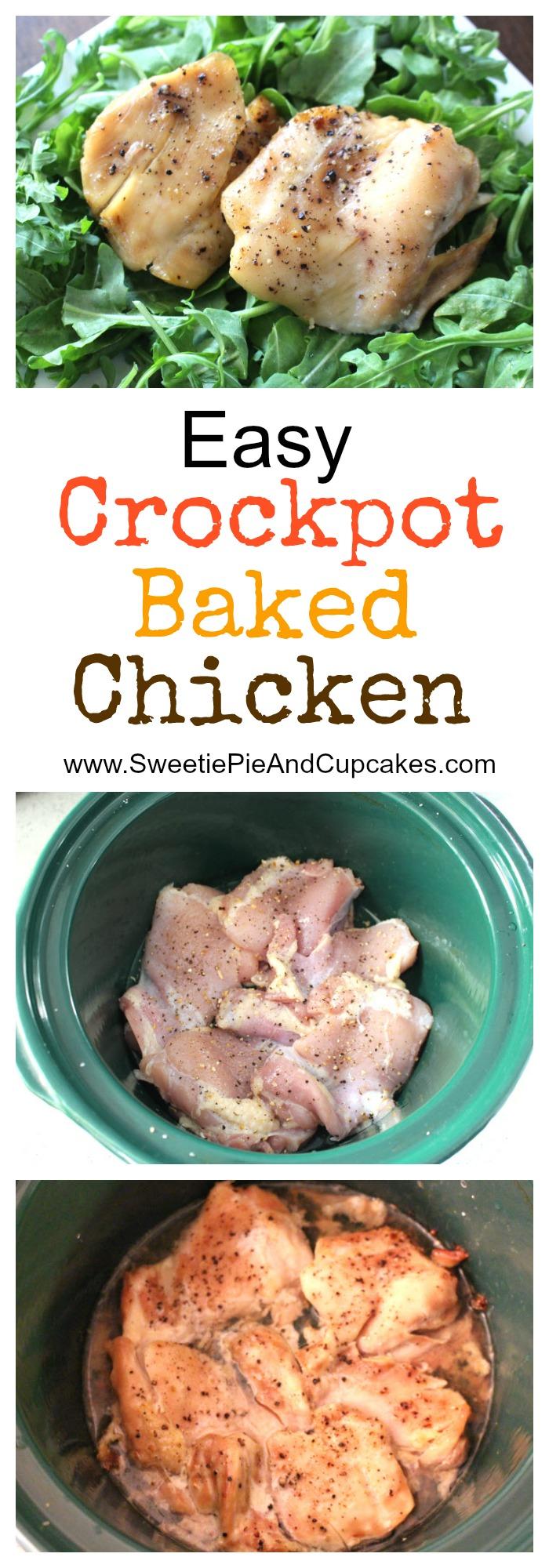 Easy crockpot baked chicken recipe