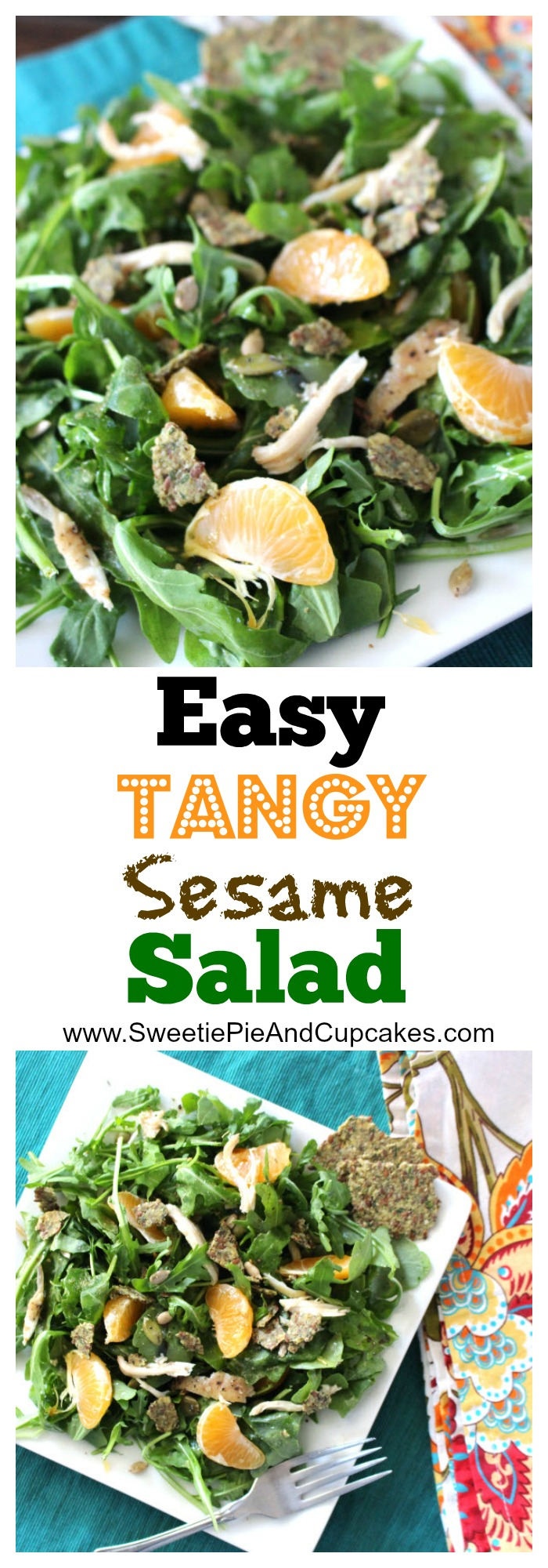 easy tangy sesame chicken salad