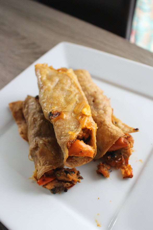 Easy Sweet Potato Taquitos