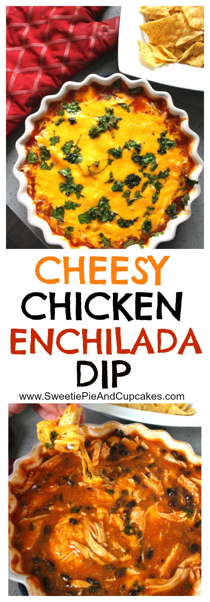 Cheesy Chicken Enchilada Dip