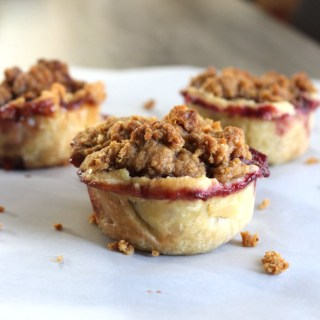 Mini Apple Berry Pies with Crumble Top