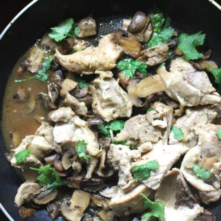Chicken with Mushrooms Dinner Recipe