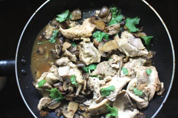 Chicken with Mushrooms Dinner Recipe