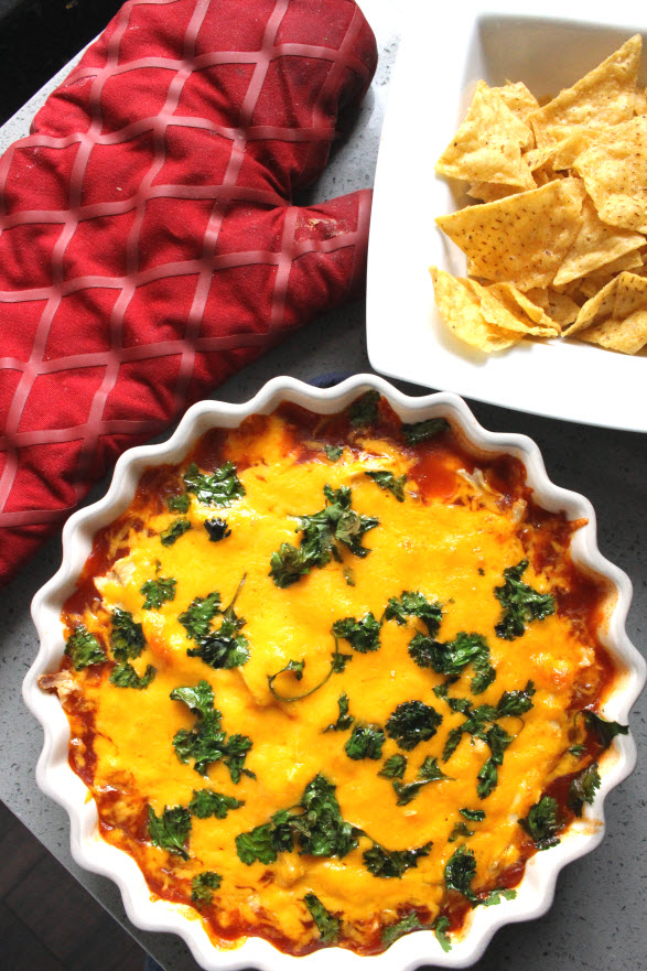 Cheesy Chicken Enchilada Dip Recipe