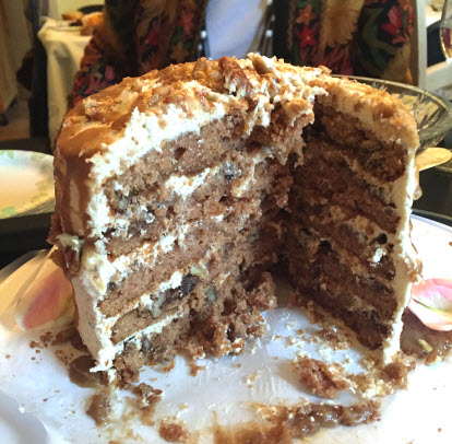 The layers inside of Cake