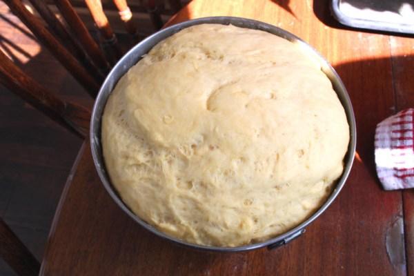 King Cake dough rising