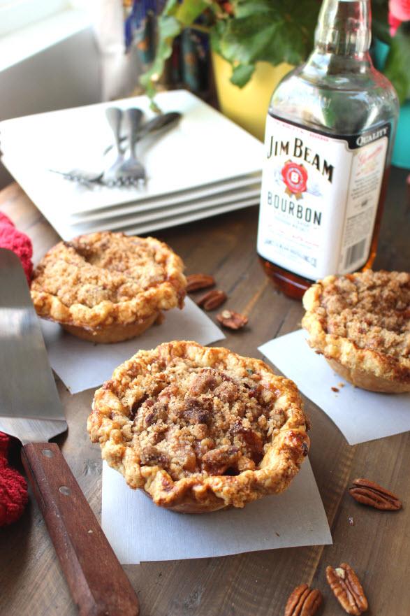 First Place Maple Bourbon Peach Pecan Pie