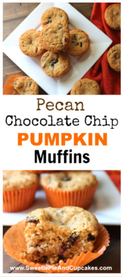 Pecan Chocolate Chip Pumpkin Muffins