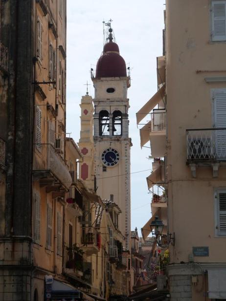 Le clocher de Corfu town