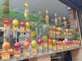 Vendeur de jus de fruit