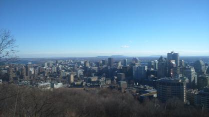Vue depuis les hauteurs du Parc Mont Royal