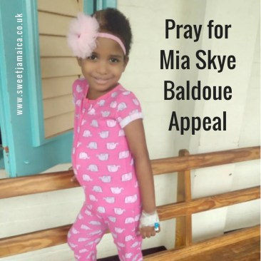#PrayforMia Mia-Skye Baldoue Appeal – Support Jamaica