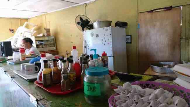 Inside Smurfs Cafe Treasure Beach