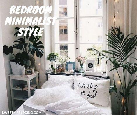 ห้องนอนน่ารักมินิมอลเพียงแค่ใช้ผ้านวมสีขาว