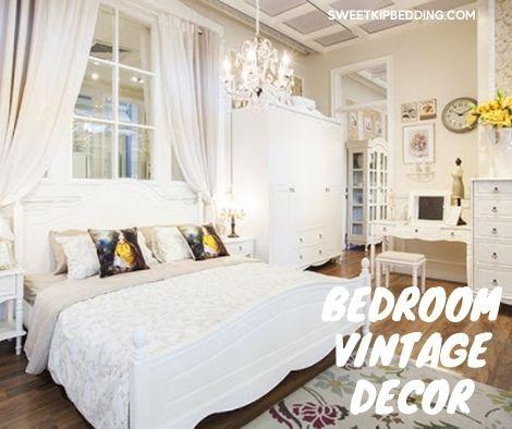 ห้องนอนวินเทจสวยๆ สีขาว