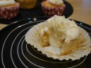 Lindt Truffle stuffed White Chocolate Cupcake