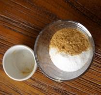 Remaining sugar+ginger